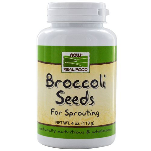 Now Foods, Real Food, Broccoli Seeds, 4 oz (113 g) Review