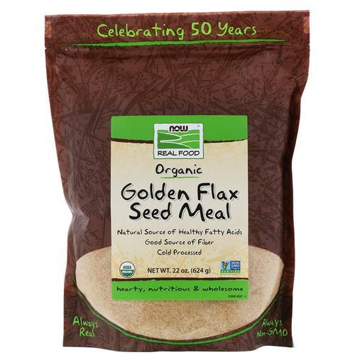 Now Foods, Real Food, Golden Flax Seed Meal, 1.4 lbs (624 g) Review