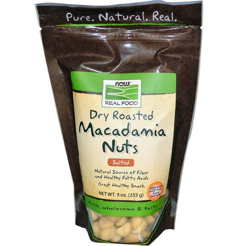 Now Foods, Real Food, Macadamia Nuts, Dry Roasted, Salted, 9 oz (255 g) Review