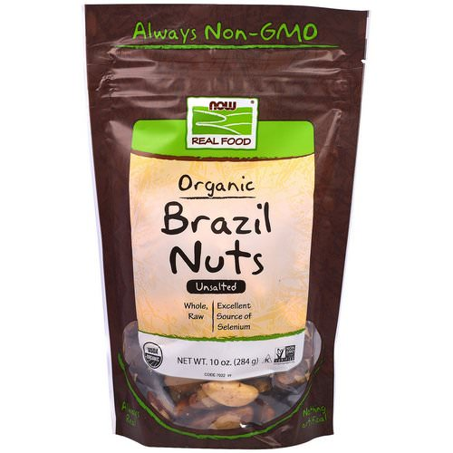 Now Foods, Real Food, Organic Brazil Nuts, Unsalted, 10 oz (284 g) Review