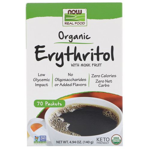 Now Foods, Real Food, Organic Erythritol with Monk Fruit, 70 Packets Review
