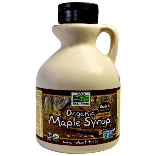 Now Foods, Real Food, Organic Maple Syrup, Grade A, Dark Color, 16 fl oz (473 ml) Review