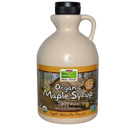 Now Foods, Real Food, Organic Maple Syrup, Grade A, Medium Amber, 32 fl oz (946 ml) Review