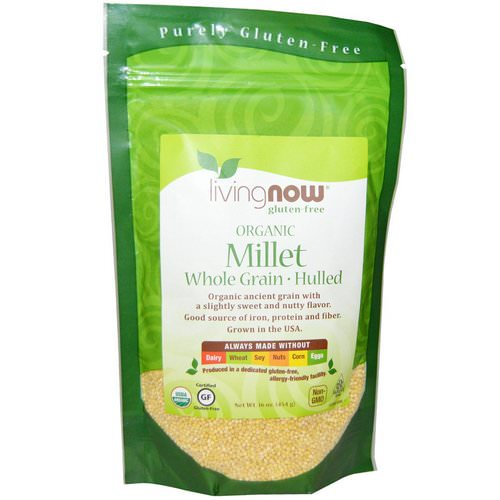 Now Foods, Real Food, Organic Millet Whole, Gluten Free, 16 oz (454 g) Review