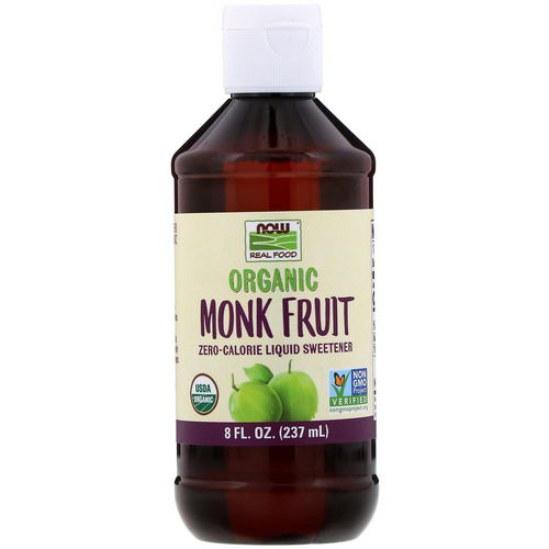 Now Foods, Real Food, Organic Monk Fruit, Zero-Calorie Liquid Sweetener, 8 fl oz (237 ml) Review