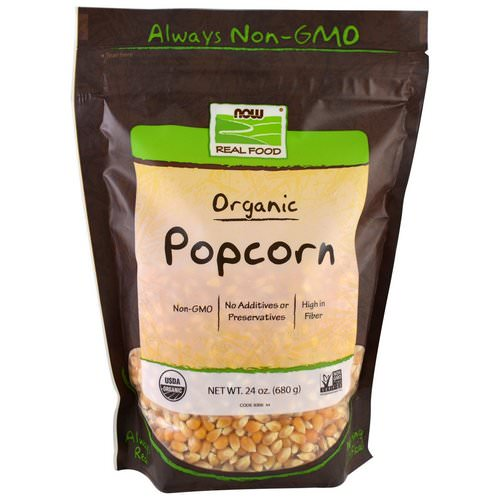 Now Foods, Real Food, Organic Popcorn, 1.5 lbs (680 g) Review