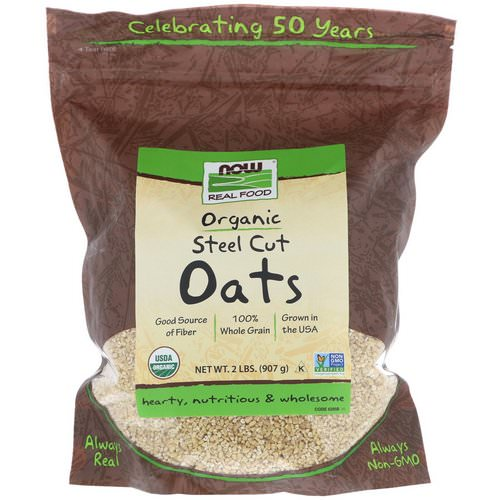 Now Foods, Real Food, Organic Steel Cut Oats, 2 lbs (907 g) Review