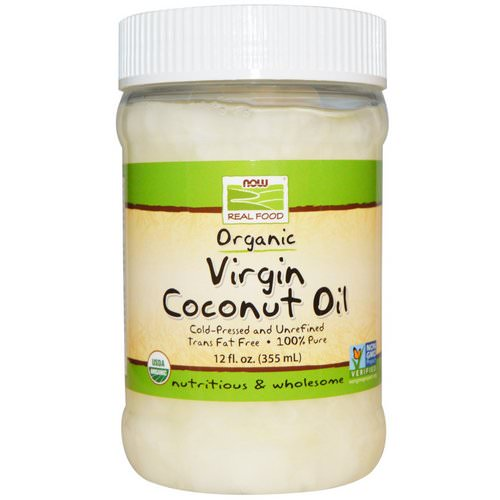 Now Foods, Real Food, Organic, Virgin Coconut Oil, 12 fl oz (355 ml) Review