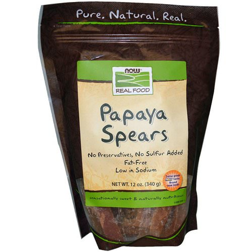 Now Foods, Real Food, Papaya Spears, 12 oz (340 g) Review