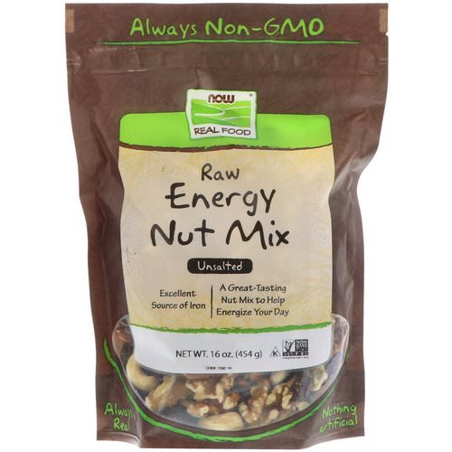 Now Foods, Real Food, Raw Energy Nut Mix, Unsalted, 16 oz (454 g) Review