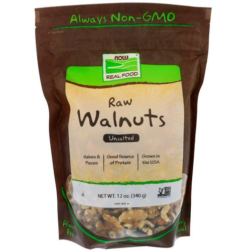 Now Foods, Real Food, Raw Walnuts, Unsalted, 12 oz (340 g) Review
