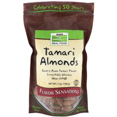 Now Foods, Real Food, Tamari Almonds, 7 oz (198 g) Review