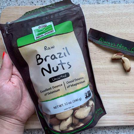 Real Food, Whole, Raw Brazil Nuts, Unsalted