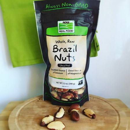Now Foods, Real Food, Whole, Raw Brazil Nuts, Unsalted, 12 oz (340 g) Review