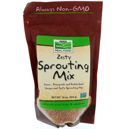Now Foods, Real Food, Zesty Sprouting Mix, 16 oz (454 g) Review