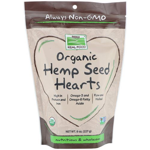 Now Foods, Real Foods, Organic Hemp Seed Hearts, 8 oz (227 g) Review