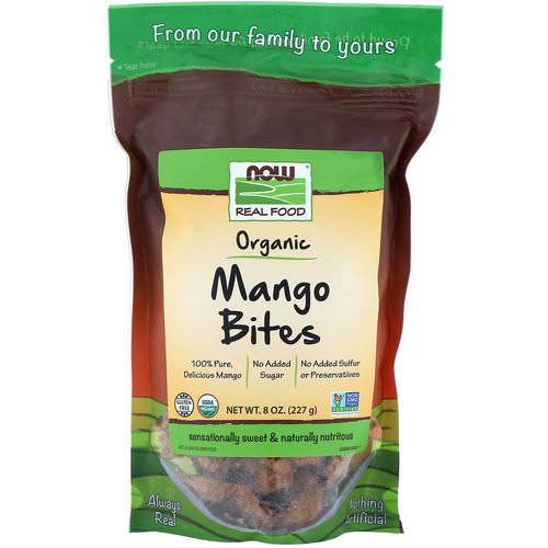 Now Foods, Real Foods, Organic Mango Bites, 8 oz (227 g) Review