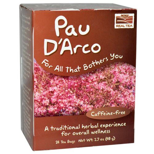 Now Foods, Real Tea, Pau D'Arco, Caffeine-Free, 24 Tea Bags, 1.7 oz (48 g) Review