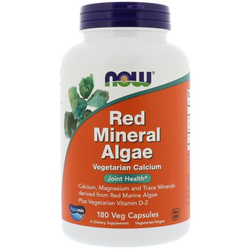 Now Foods, Red Mineral Algae, 180 Veg Capsules Review