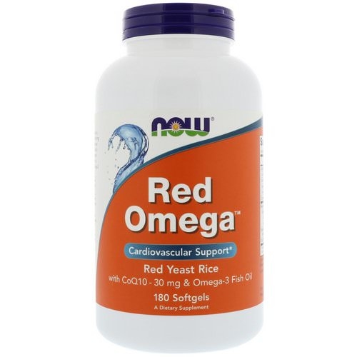 Now Foods, Red Omega, Red Yeast Rice with CoQ10, 30 mg, 180 Softgels Review