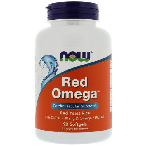 Now Foods, Red Omega, Red Yeast Rice with CoQ10, 30 mg, 90 Softgels Review