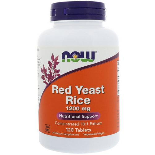 Now Foods, Red Yeast Rice, 1200 mg, 120 Tablets Review