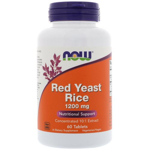 Now Foods, Red Yeast Rice, 1200 mg, 60 Tablets Review