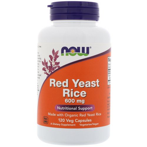 Now Foods, Red Yeast Rice, 600 mg, 120 Veg Capsules Review
