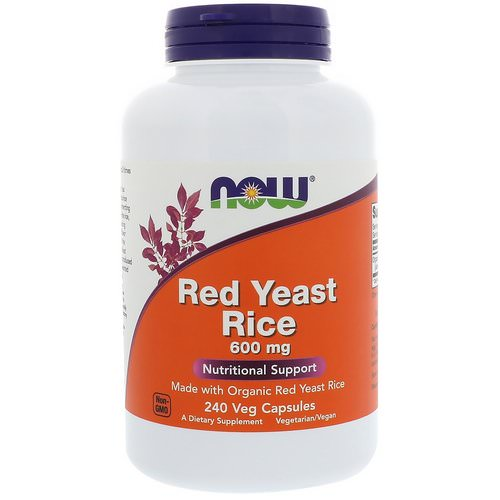 Now Foods, Red Yeast Rice, 600 mg, 240 Veg Capsules Review