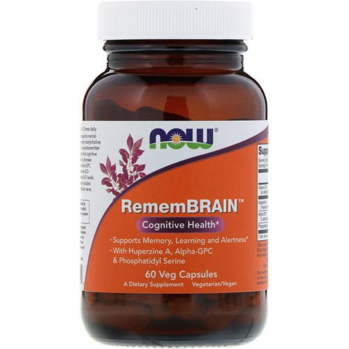 Now Foods, RememBrain, Cognitive Health, 60 Veg Capsules Review