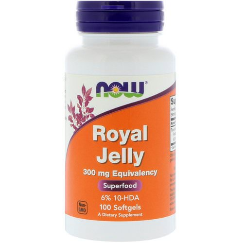 Now Foods, Royal Jelly, 300 mg, 100 Softgels Review
