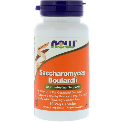 Now Foods, Saccharomyces Boulardii, Gastrointestinal Support, 60 Veg Capsules Review