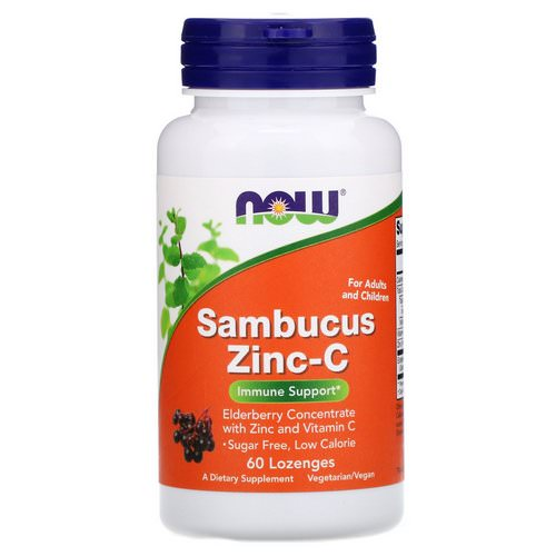 Now Foods, Sambucus Zinc-C, 60 Lozenges Review