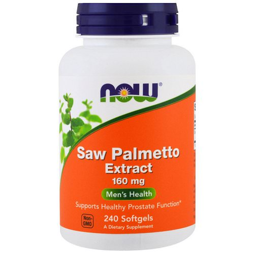Now Foods, Saw Palmetto Extract, 160 mg, 240 Softgels Review