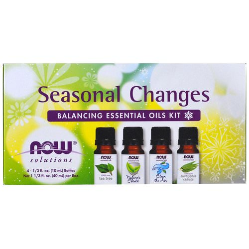 Now Foods, Seasonal Changes, Balancing Essential Oils Kit, 4 Bottles, 1/3 fl oz. (10 ml) Each Review