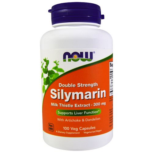 Now Foods, Silymarin, Milk Thistle Extract with Artichoke & Dandelion, Double Strength, 300 mg, 100 Veg Capsules Review