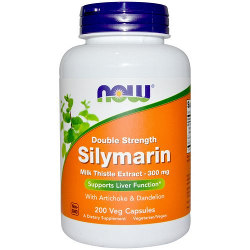 Now Foods, Silymarin, Milk Thistle Extract with Artichoke & Dandelion, Double Strength, 300 mg, 200 Veg Capsules Review
