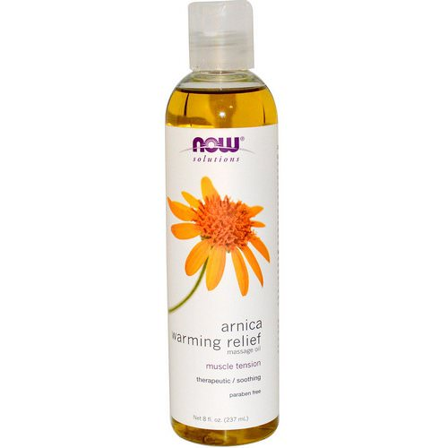 Now Foods, Solutions, Arnica Warming Relief Massage Oil, 8 fl oz (237 ml) Review