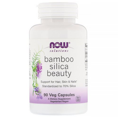 Now Foods, Solutions, Bamboo Silica Beauty, 90 Veg Capsules Review