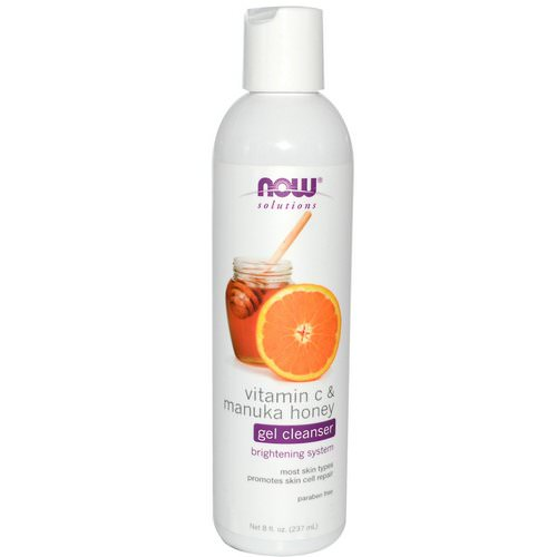 Now Foods, Solutions, Gel Cleanser, Vitamin C & Manuka Honey, 8 fl oz (237 ml) Review