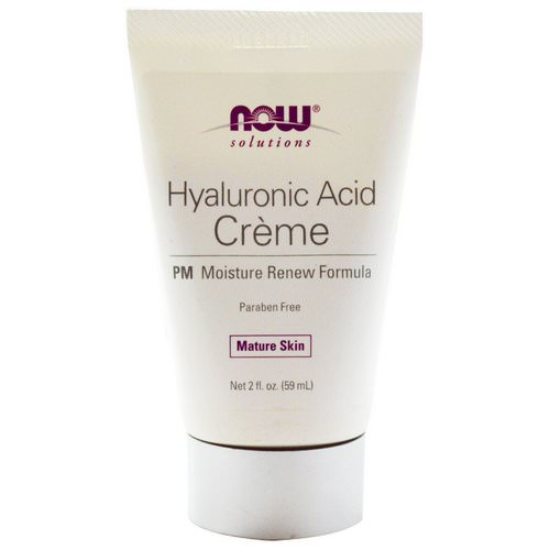 Now Foods, Solutions, Hyaluronic Acid Creme, PM Moisture Renew Formula, 2 fl oz (59 ml) Review