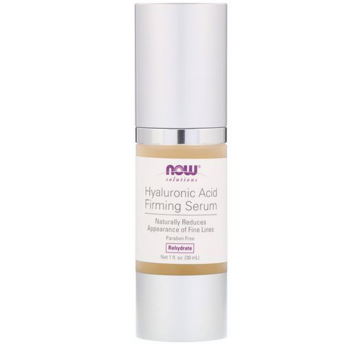Now Foods, Solutions, Hyaluronic Acid Firming Serum, 1 fl oz (30 ml) Review