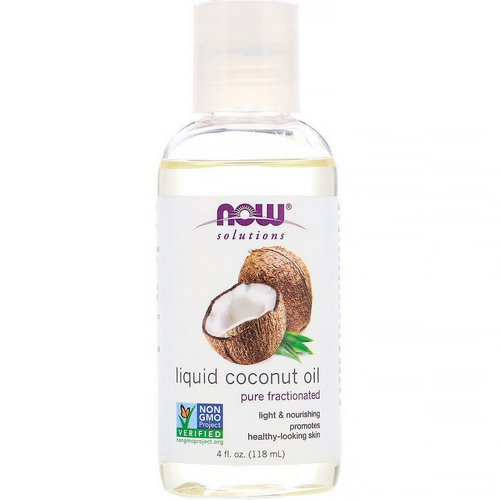 Now Foods, Solutions, Liquid Coconut Oil, Pure Fractionated, 4 fl oz (118 ml) Review