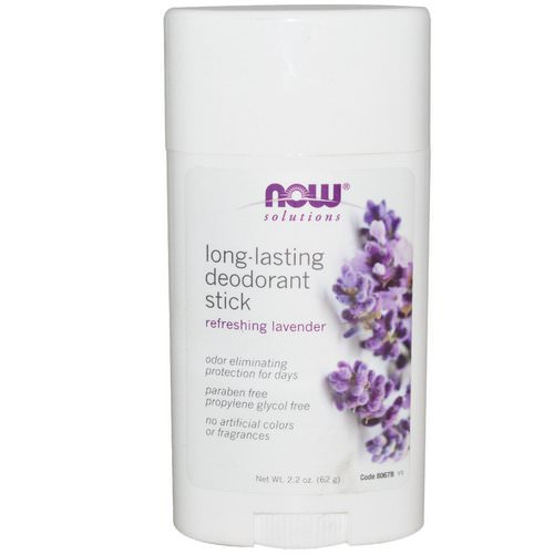 Now Foods, Solutions, Long-Lasting Deodorant Stick, Refreshing Lavender, 2.2 oz (62 g) Review