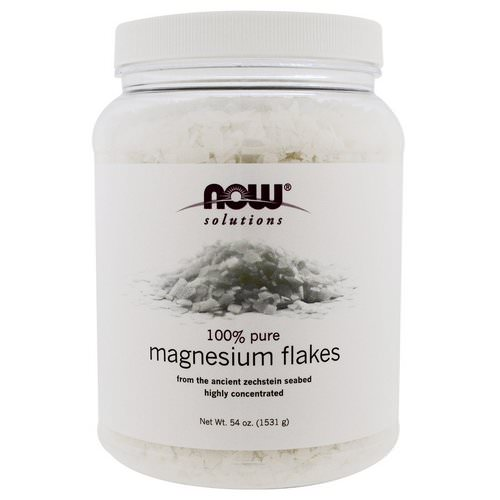 Now Foods, Solutions, Magnesium Flakes, 100% Pure, 3.37 lbs (1531 g) Review