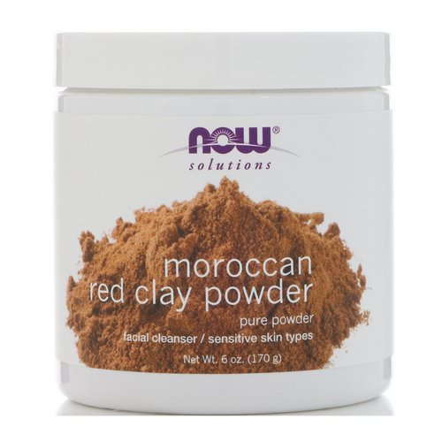 Now Foods, Solutions, Moroccan Red Clay Powder, 6 oz (170 g) Review