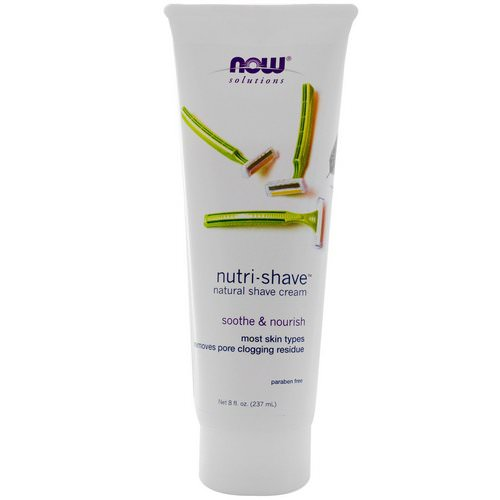 Now Foods, Solutions, Nutri-Shave, Natural Shave Cream, 8 fl oz (237 ml) Review