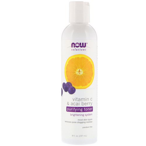Now Foods, Solutions, Purifying Toner, Vitamin C & Acai Berry, 8 fl oz (237 ml) Review