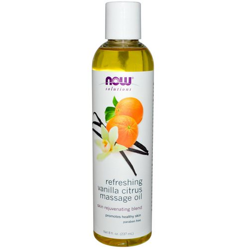 Now Foods, Solutions, Refreshing Vanilla Citrus Massage Oil, 8 fl oz (237 ml) Review