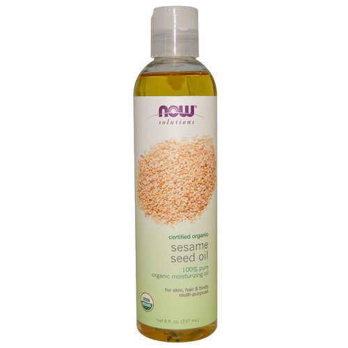 Now Foods, Solutions, Sesame Seed Oil, Certified Organic, 8 fl oz (237 ml) Review